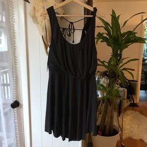Free people charcoal gray dress